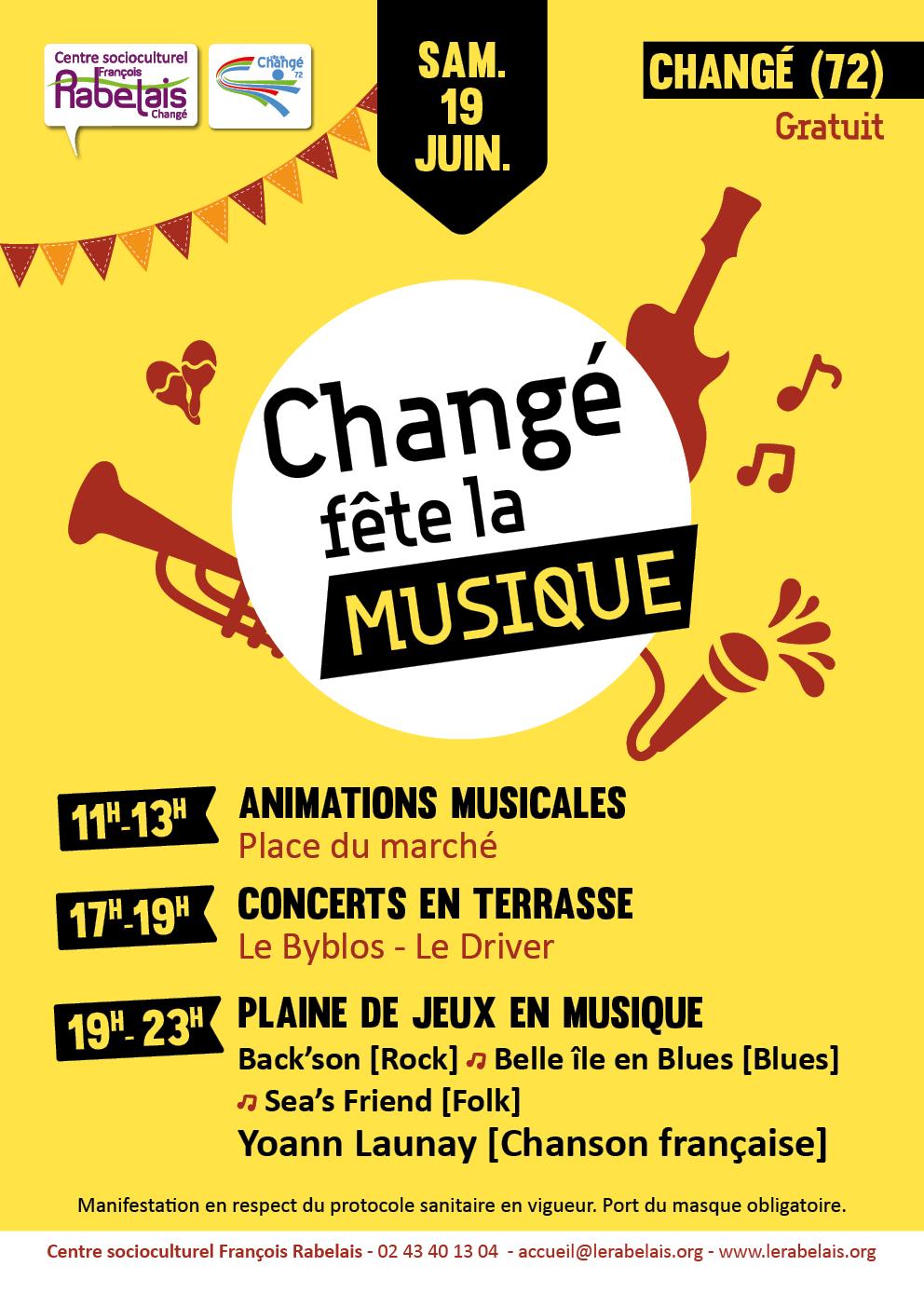 Fête de la musique 2021 Changé Sarthe